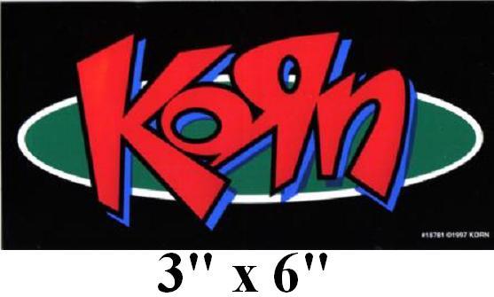 Korn Logo Jonathan Davis Vinyl Bumper Sticker Decal New